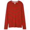 Men's Christmas Village Stripe Waffle Henley Pajama Shirt