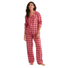 Retro Plaid Flannel Pajama Set