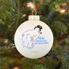 TB-3976 How Snowflakes are Made Glass Bulb Ornament hanging on tree