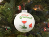 Drink Up Grinches Glass Bulb Ornament