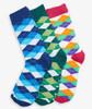 Wild Argyle Men's Crew Sock Set of 3 by Hatley
