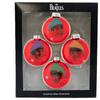 Beatles Glass Ornaments Set