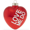 Love Me Do Glass Ornament
