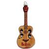 Beatles Guitar Glass Ornament