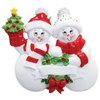 2 - Snow Family Personalized Ornament