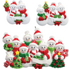 Snow Family Personalized Ornaments