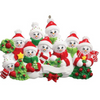 9 - Snow Family Personalized Ornament