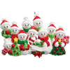 10 - Snow Family Personalized Ornament