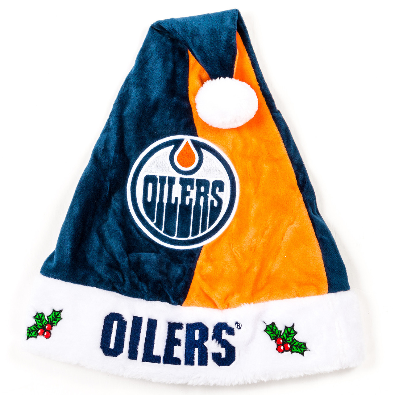 64ab937e8 Edmonton Oilers Plush Santa Hat