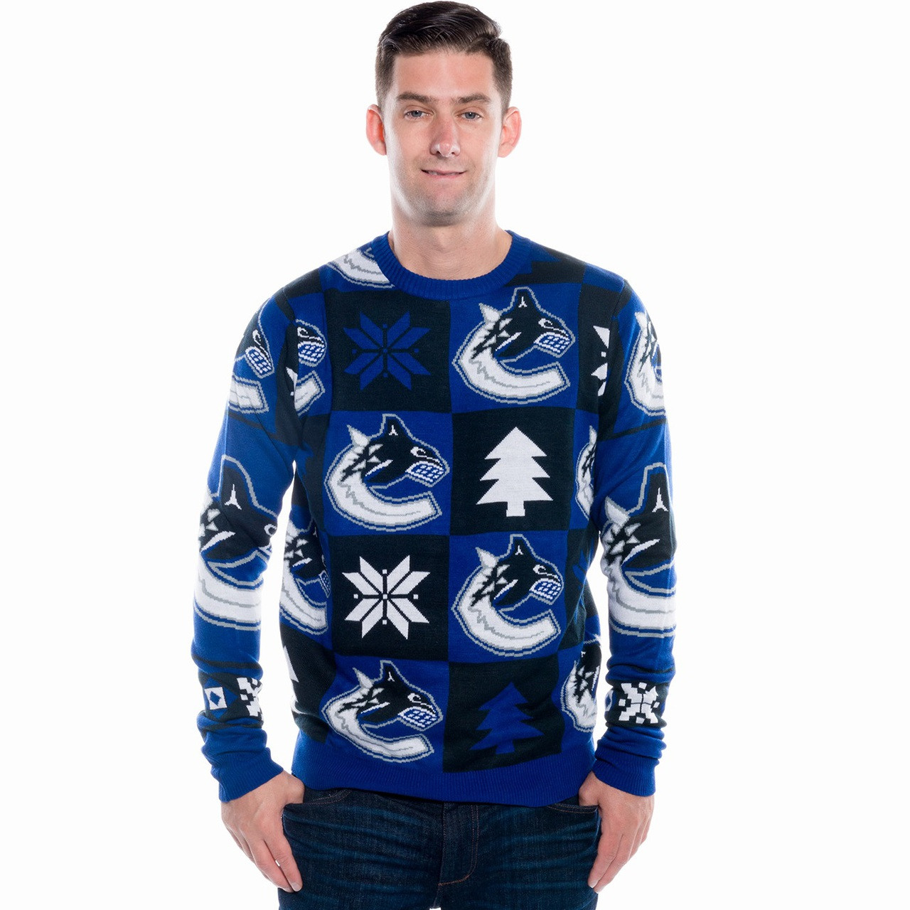 Vancouver Canucks Ugly Christmas Sweater 2017 | RetroFestive.ca