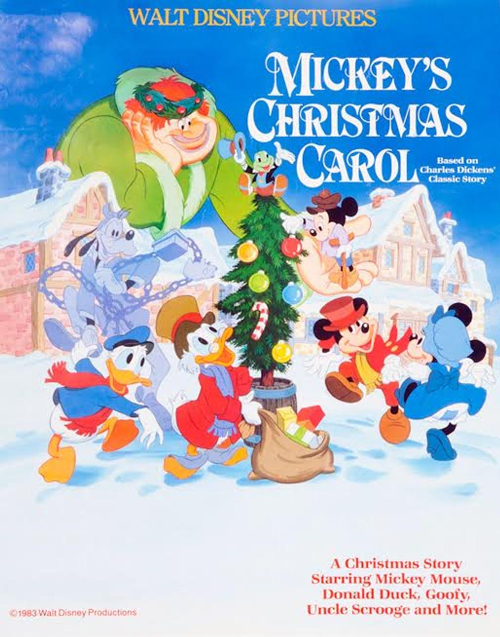 Disney Christmas Carol.Mickey S Christmas Carol Movie Poster Vintage Stock