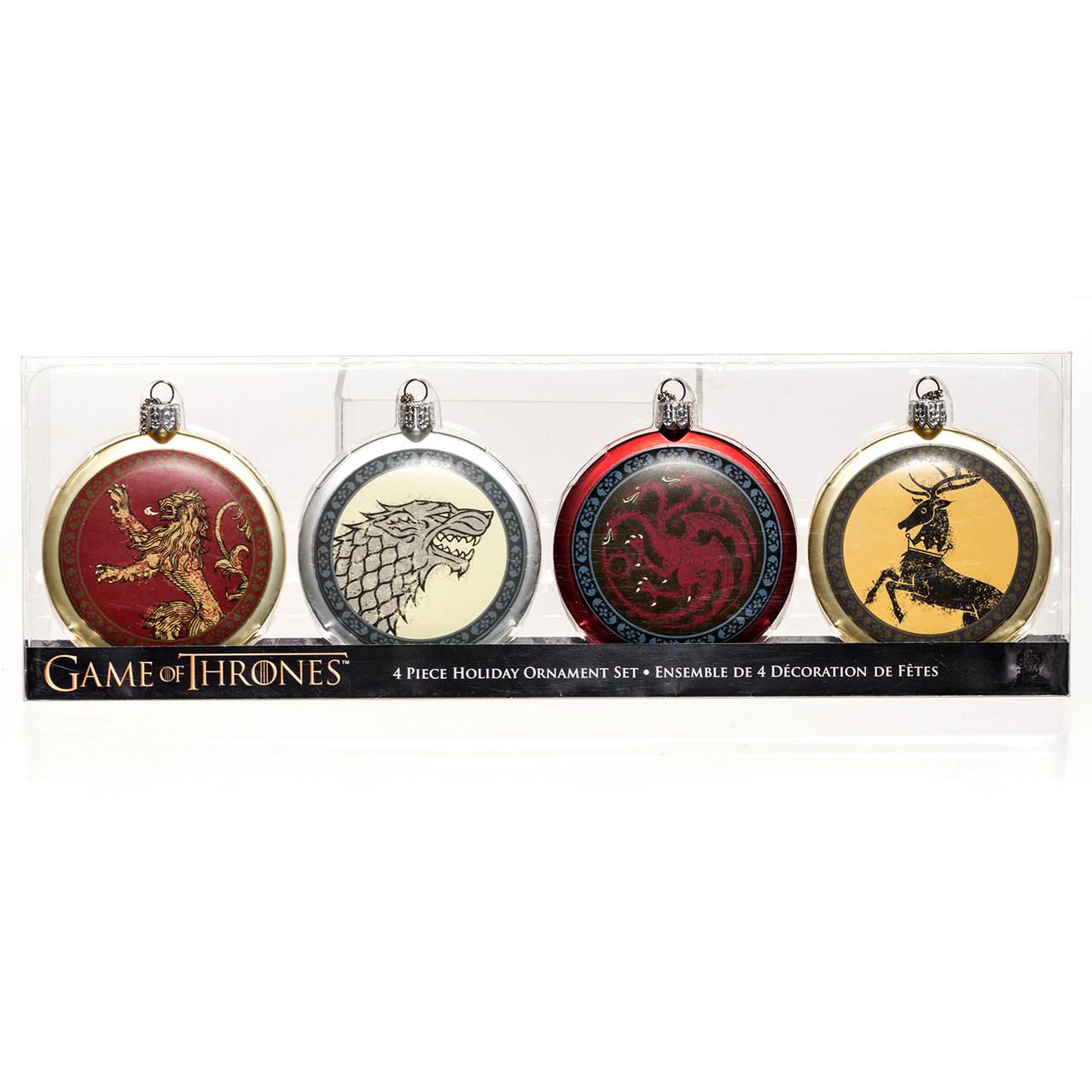 Game Of Thrones 4 Piece Holiday Ornament Set Retrofestive Ca