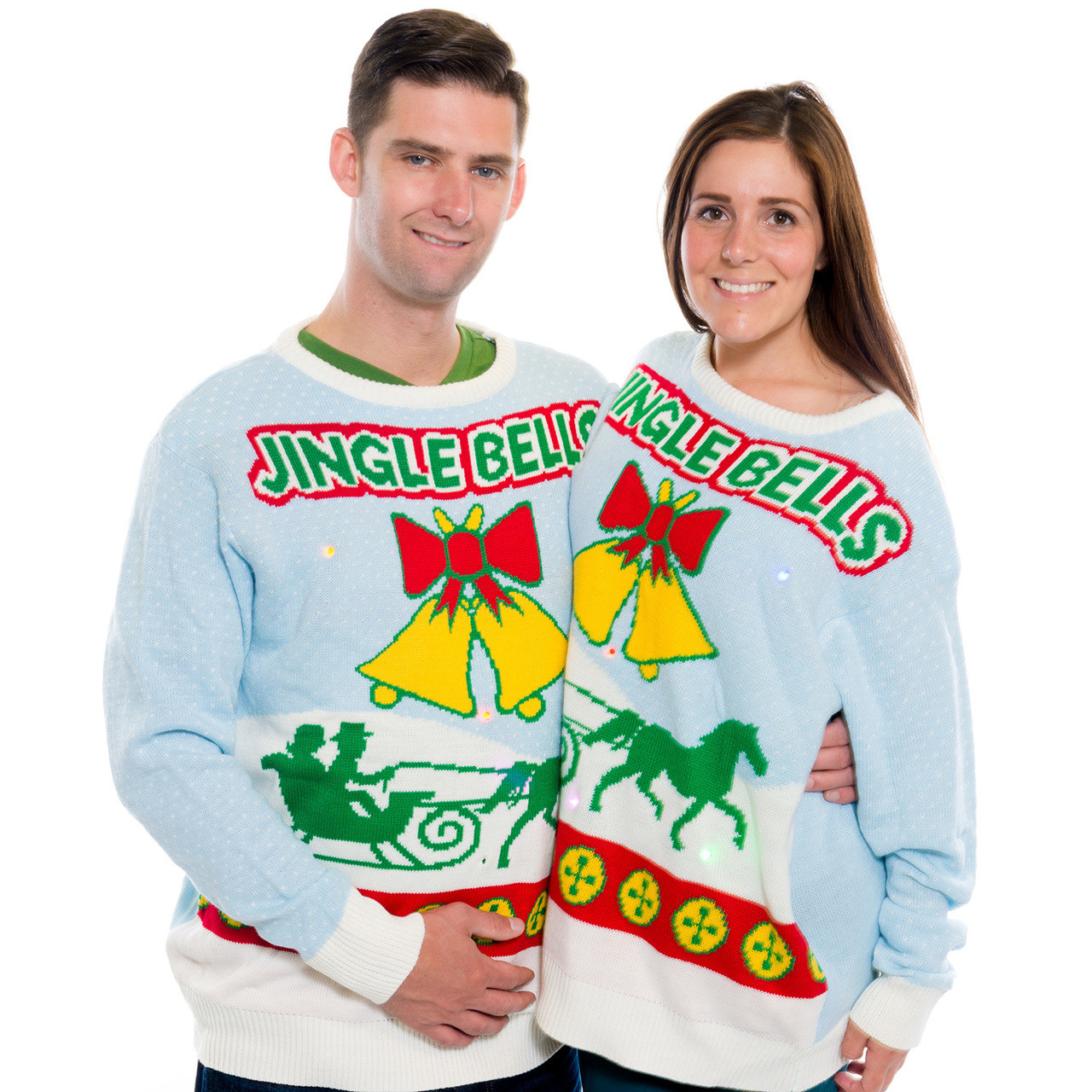 74bafdf43c2 Jingle Bells Lights and Sound Christmas Sweater I RetroFestive.ca