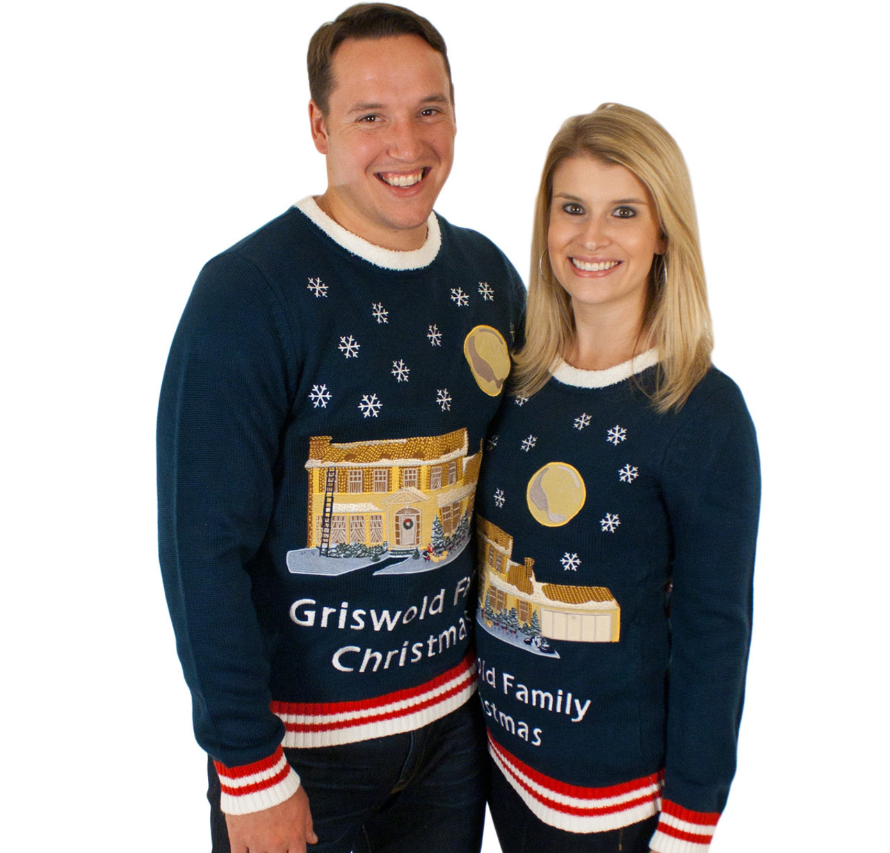 d618446c37a55 Christmas Vacation Lighted Griswold House Ugly Christmas Sweater His ...