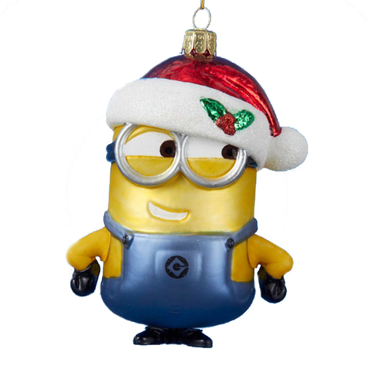 Despicable Me Minion 5-Inch Glass Holiday Ornament.