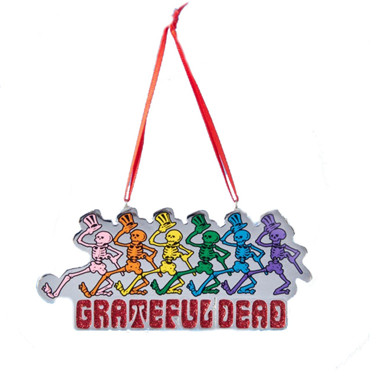 Grateful Dead Christmas Ornament.Grateful Dead Skeletons Christmas Tree Ornament