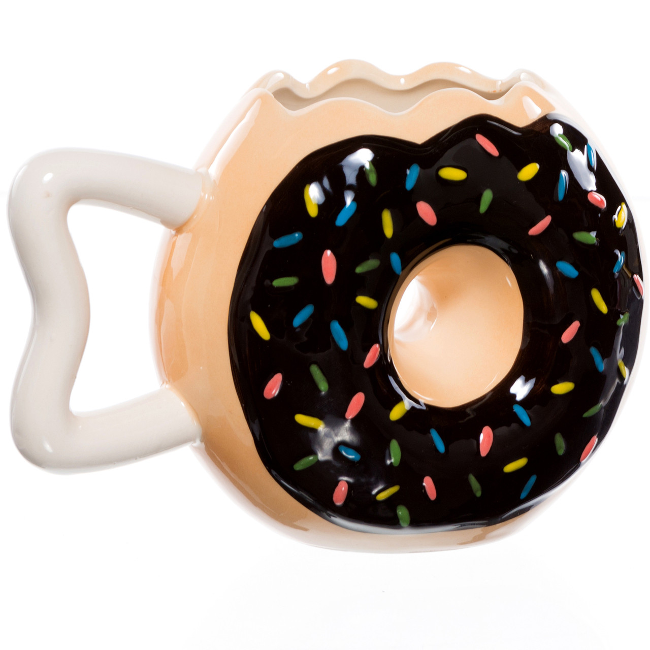 a8838061d78 Frosted Donut Shaped Coffee Mug