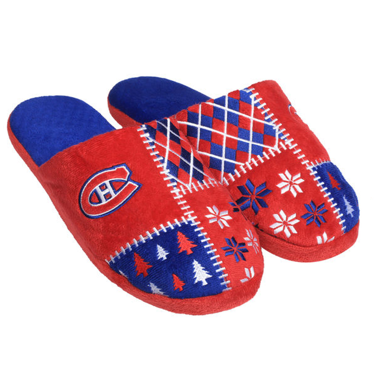 buy online 26423 2600c Montreal Canadiens Ugly Sweater Slippers NHL