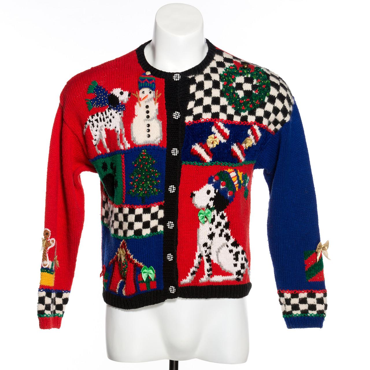 Vintage Christmas Sweaters.Dalmation Dog Vintage Ugly Christmas Sweater Oakville Canada