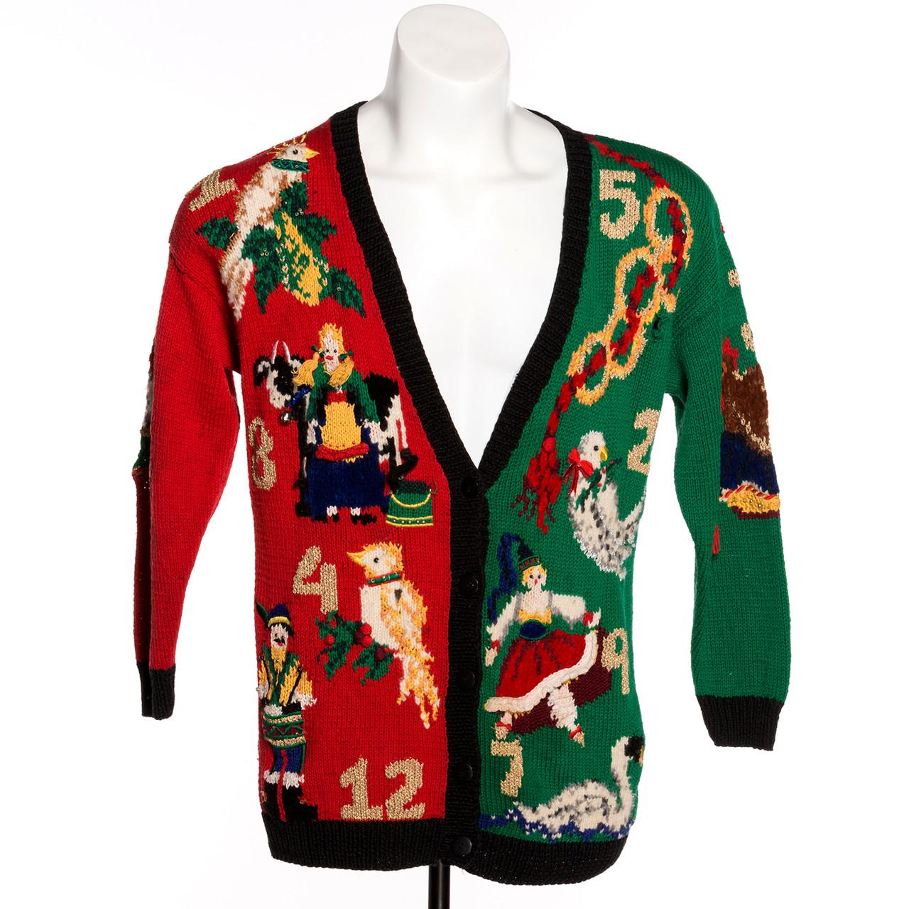 Twelve Days Of Christmas Vintage Ugly Sweater Retrofestiveca