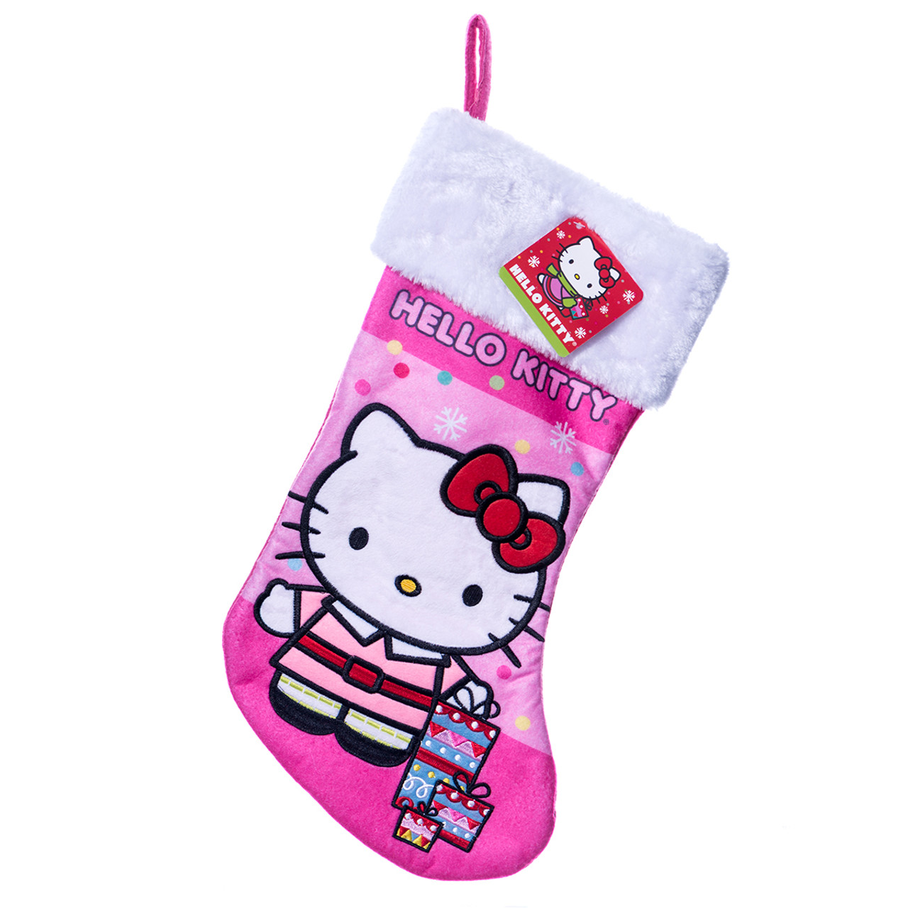 Pink Christmas Stocking.Hello Kitty Pink Christmas Stocking