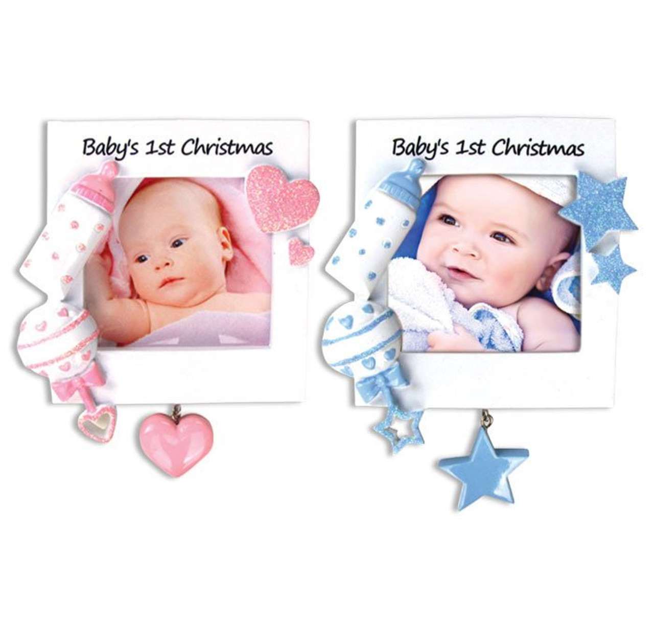 Babys 1st Christmas Photo Frame Personalized Ornaments