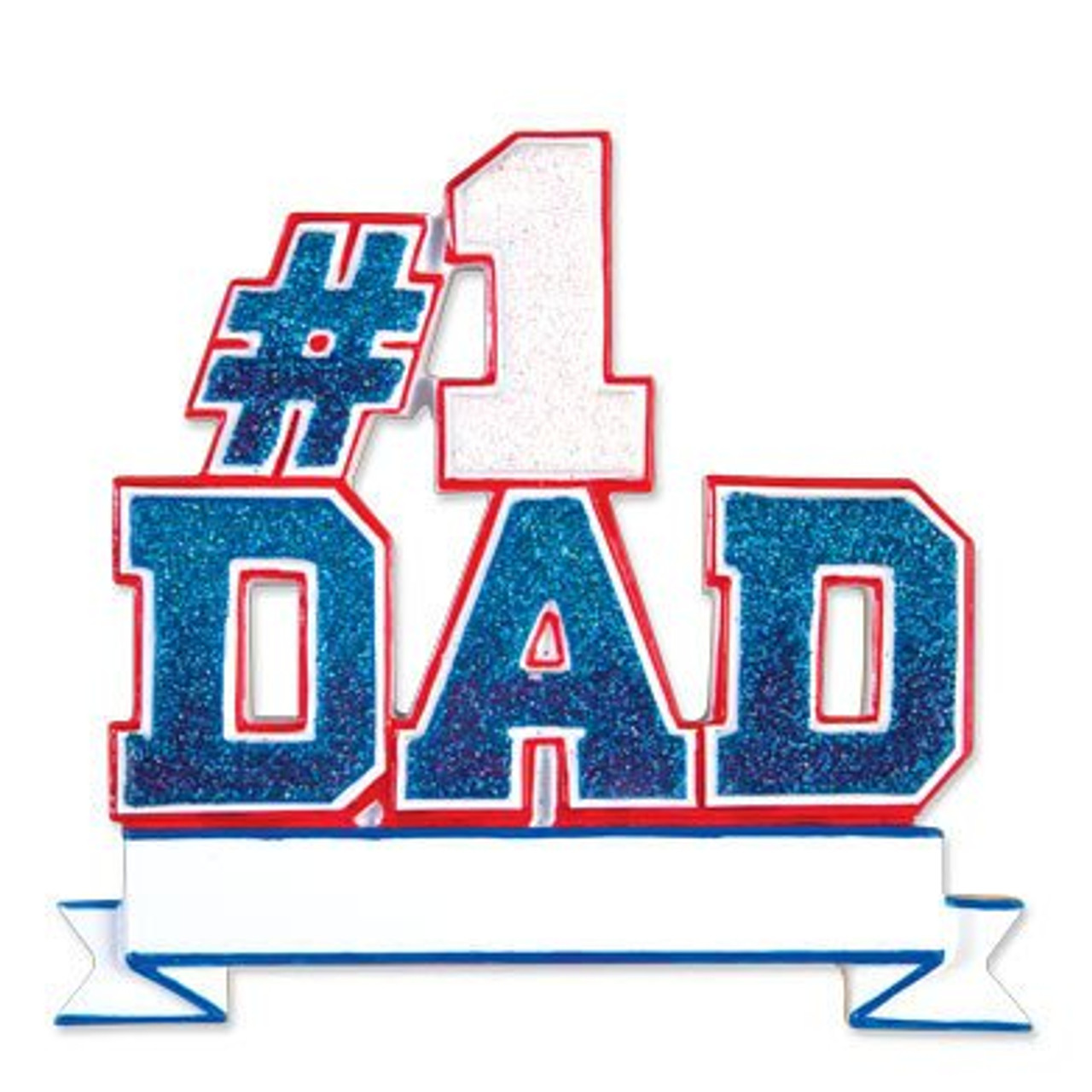 #1 Dad Personalized Ornament