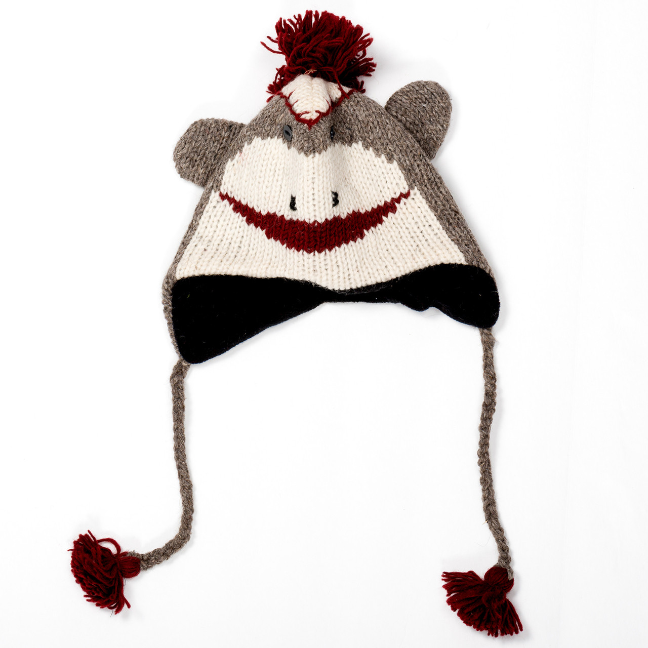 Knit Sock Monkey Hat - Adult Size - RetroFestive.ca 7aeb14eeead9