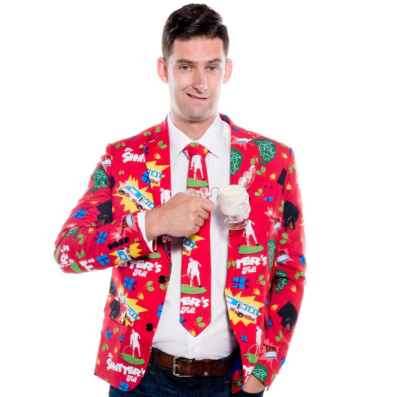 Cousin Eddie Suit Jacket And Tie Shitters Full Retrofestiveca