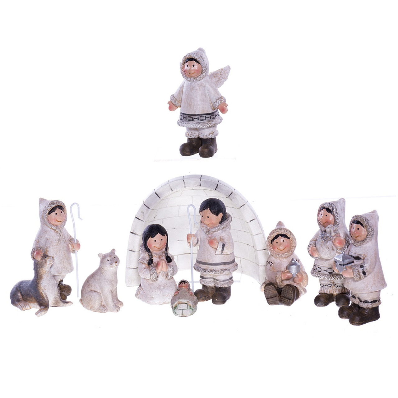 Inuit Igloo Nativity Set Retrofestive Ca