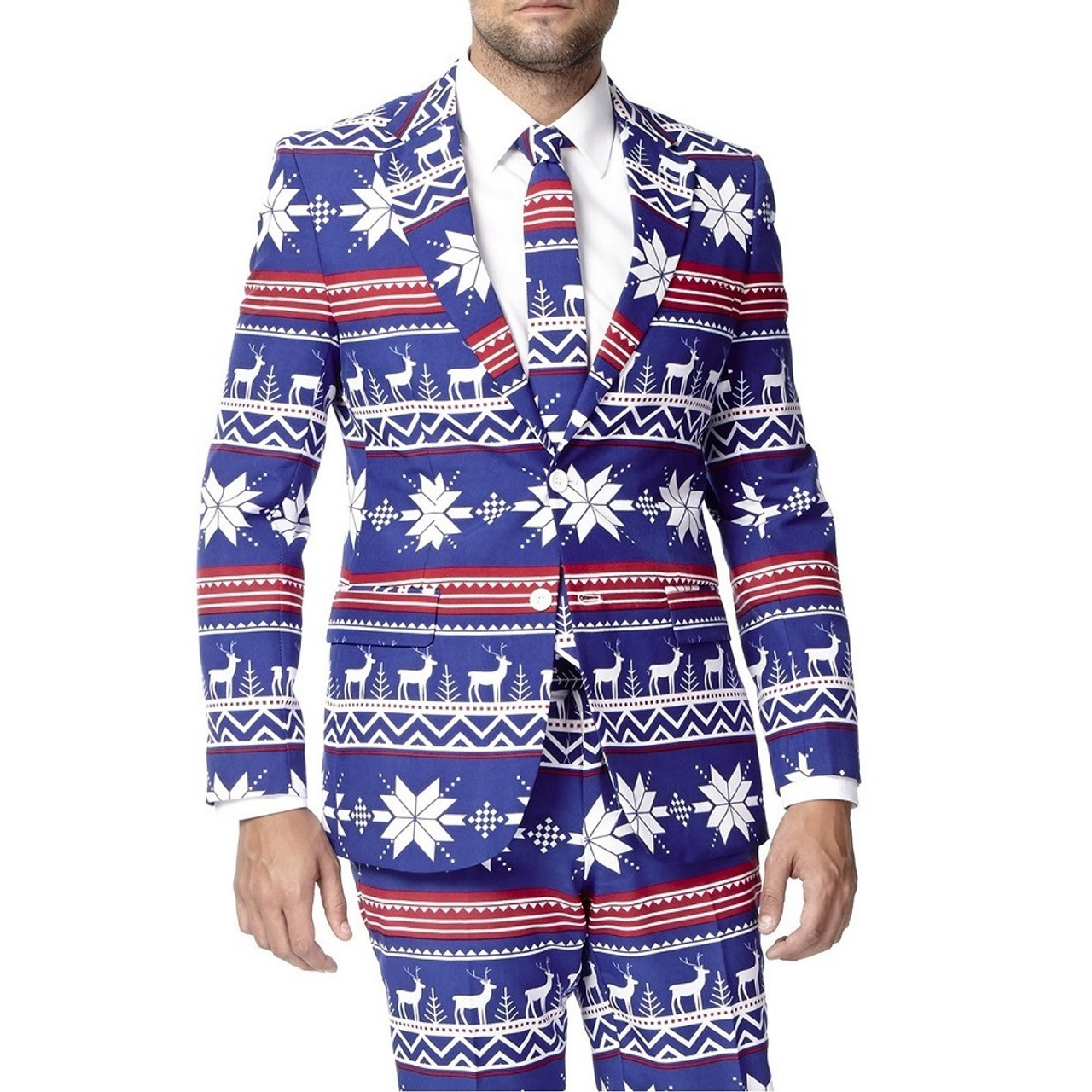 ad2ec33893fa29 The Rudolph Blue Christmas Suit by Opposuits | RetroFestive.ca