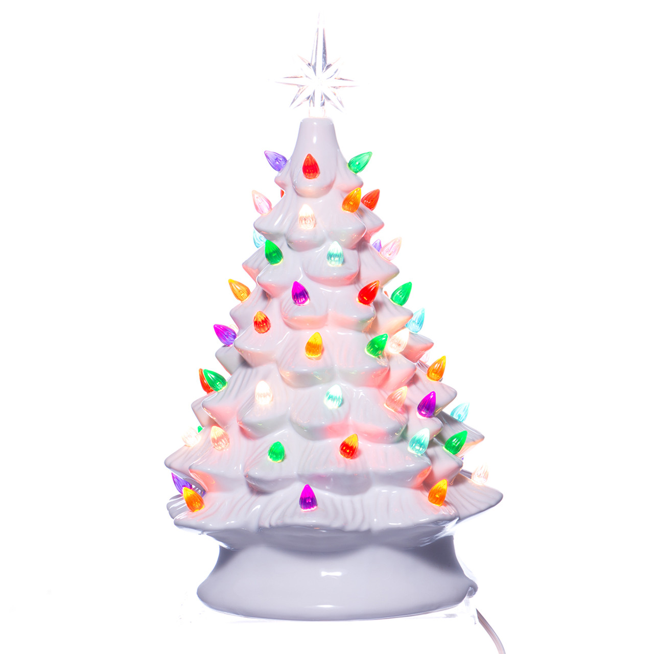 Retro Light Up White Ceramic Christmas Tree Retrofestive Ca