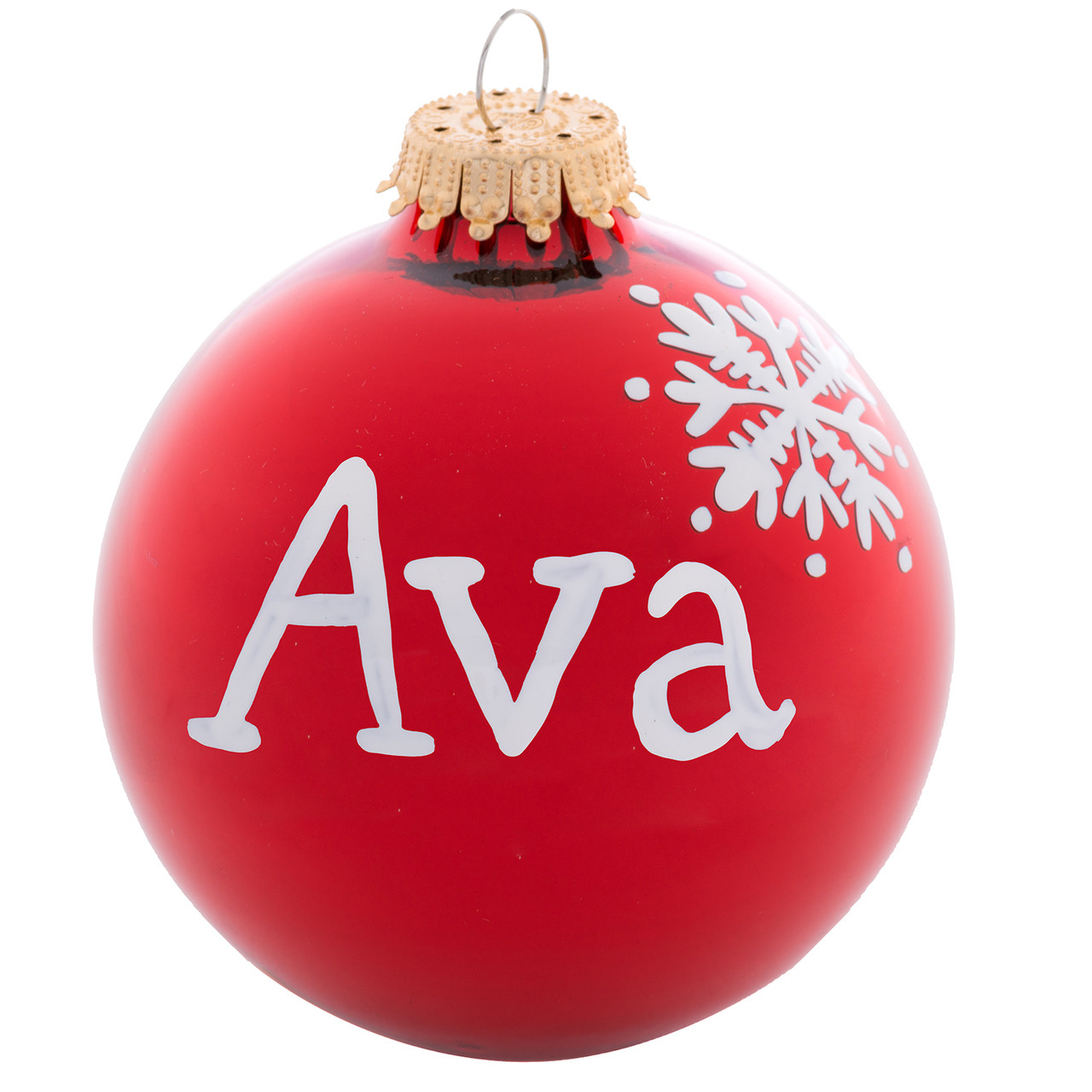Personalized Christmas Name Ball Ornaments