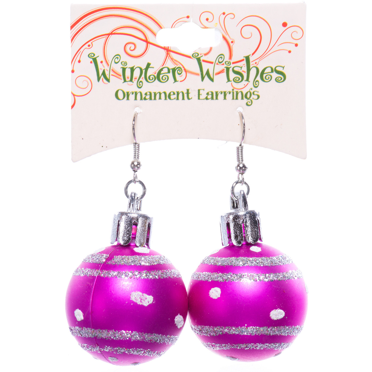 Christmas Ball Earrings 6 Colours