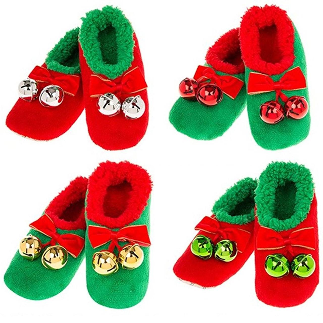 7fde999c6f9 Sleigh Bell Snoozies - Women s Christmas Slippers - RetroFestive.ca