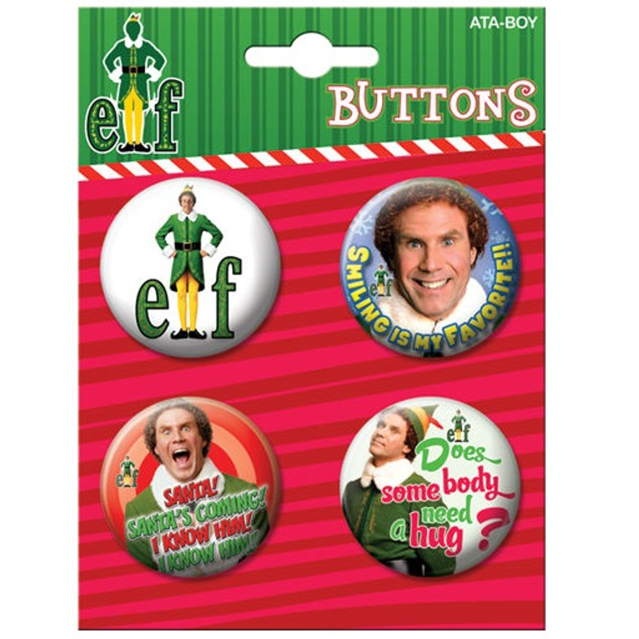 Elf The Movie Buttons Set Of Four