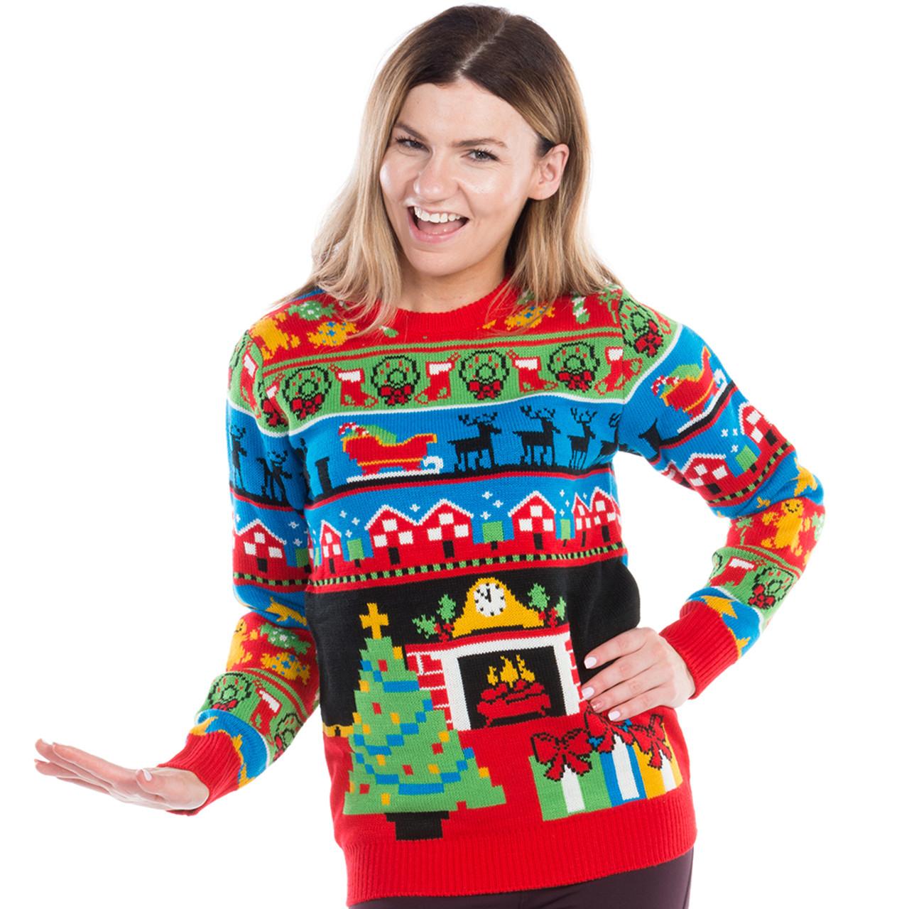 Kids Boys Girls  Mouse Jumper Xmas Sweatshirt Top Sweater Festive Novelty Gift