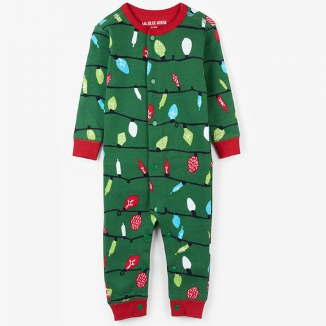 Christmas Onesies.Northern Lights Baby Christmas Onesie By Hatley