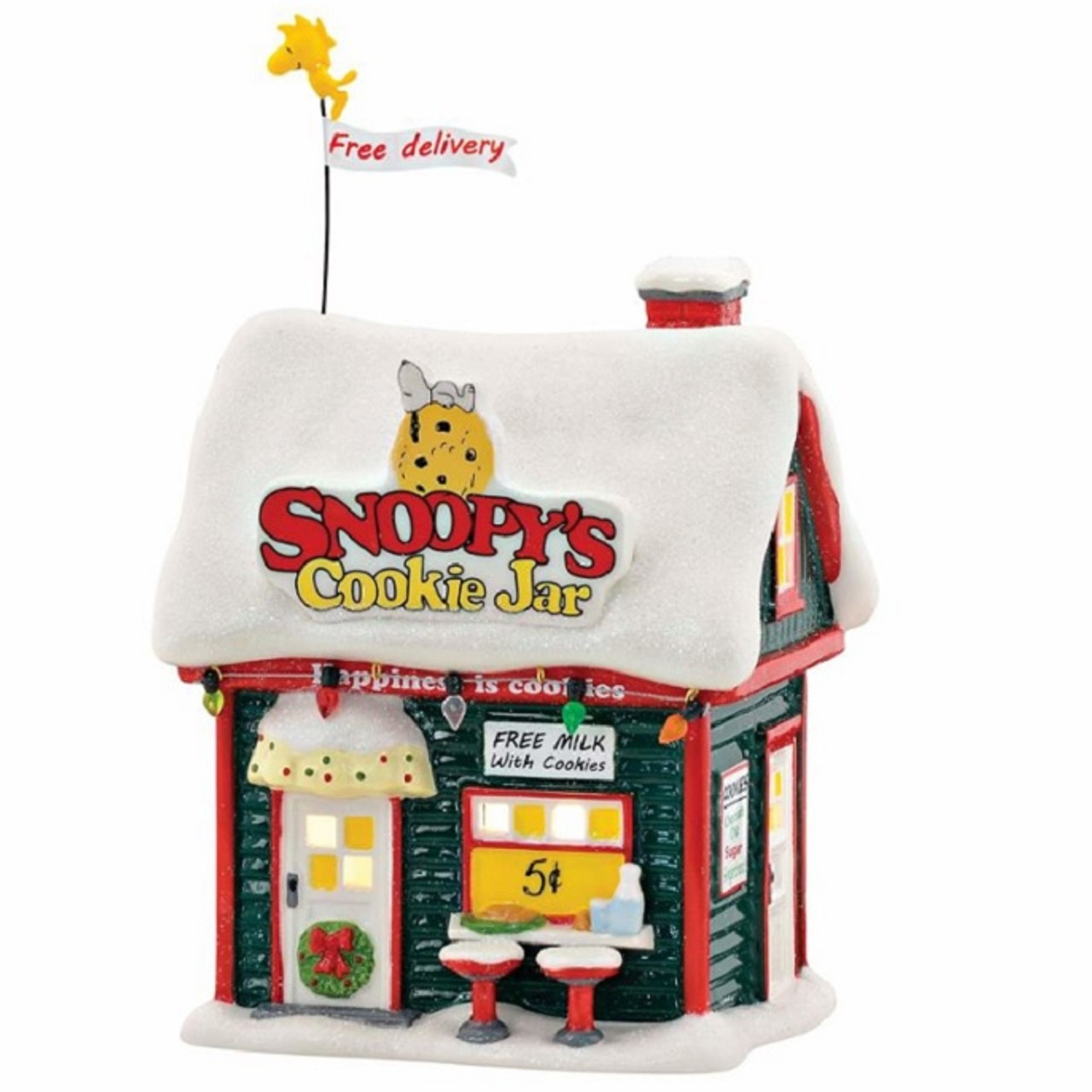 Snoopys Cookie Jar Department 56 Peanuts Village Retrofestiveca