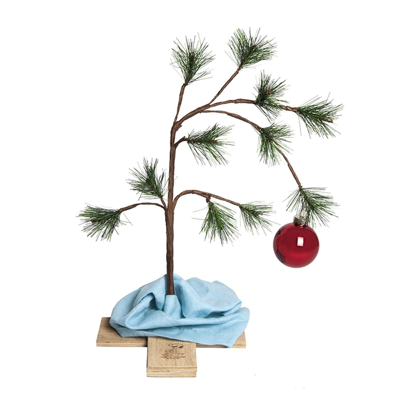 Peanuts Christmas Musical.24 Peanuts Lonely Christmas Tree With Blanket And Music