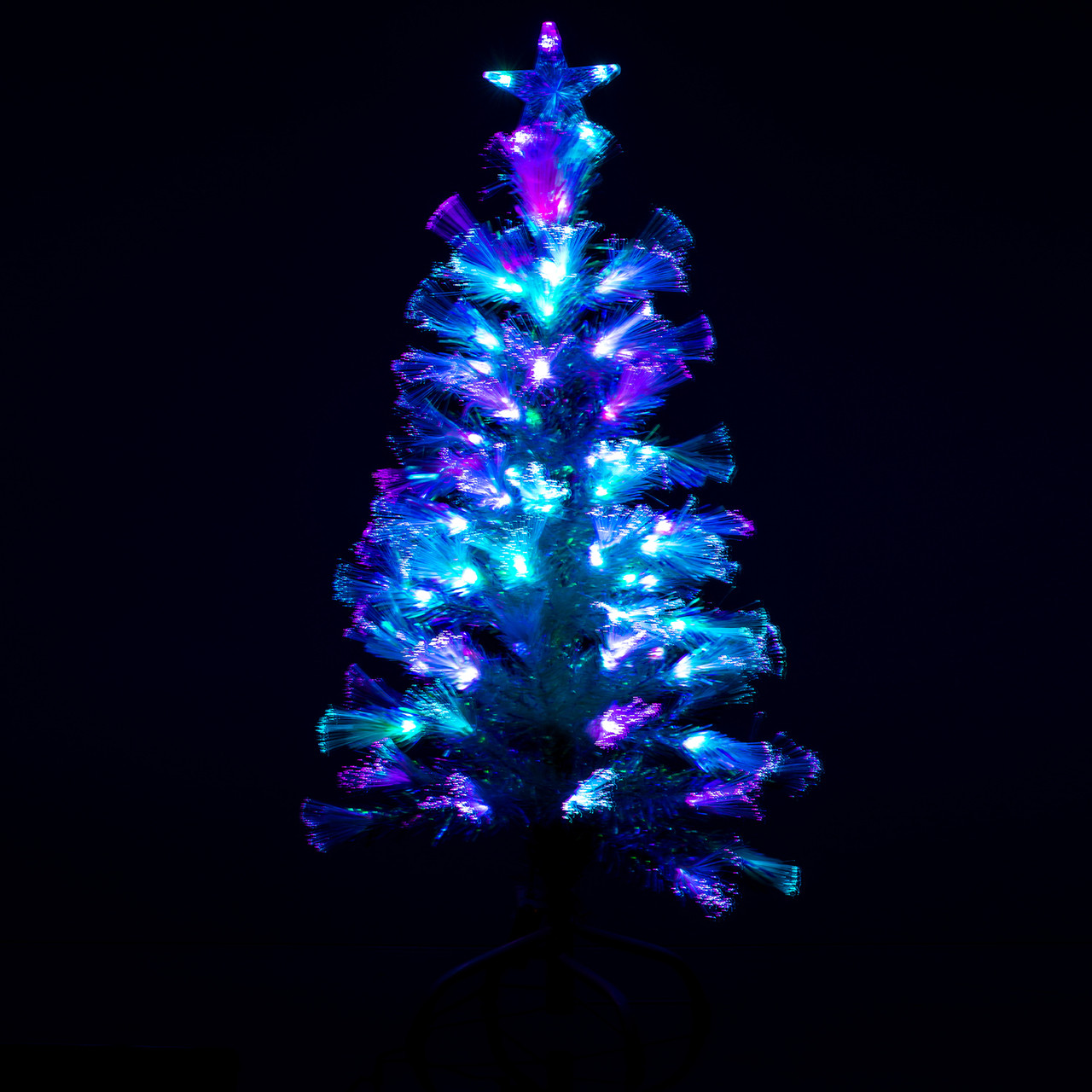 Christmas Tree With Lights.Fibre Optic Christmas Tree With Light Show