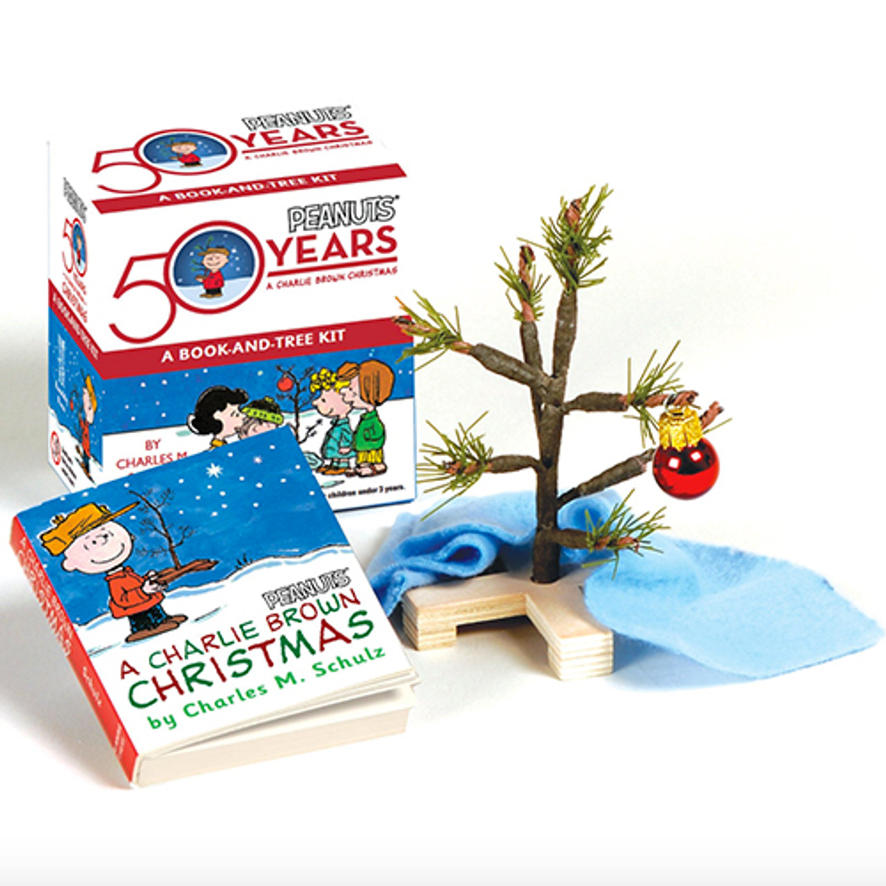 A Charlie Brown Christmas Book.A Charlie Brown Christmas Book And Tree Mini Kit