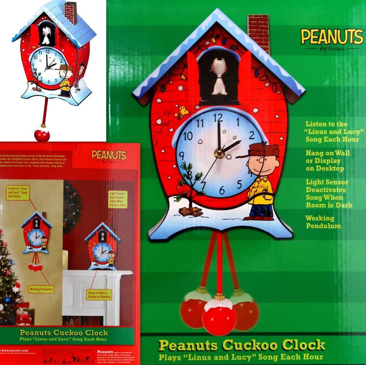 Snoopy Christmas Images.Peanuts Snoopy Christmas Cuckoo Clock