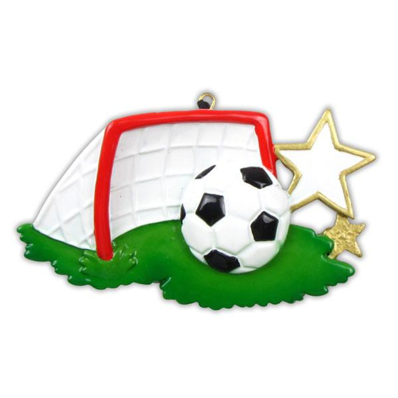 Sports Soccer Ball Personalized Christmas Ornament Retrofestiveca