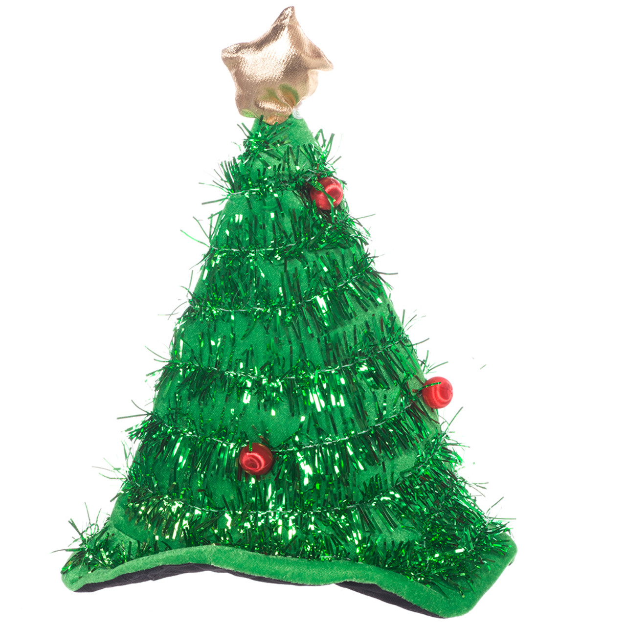 new product ba823 638be Green Tinsel Christmas Tree Hat