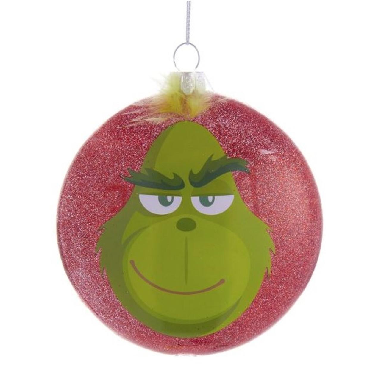 New Grinch Movie Define Naughty Glass Ornament Retrofestiveca