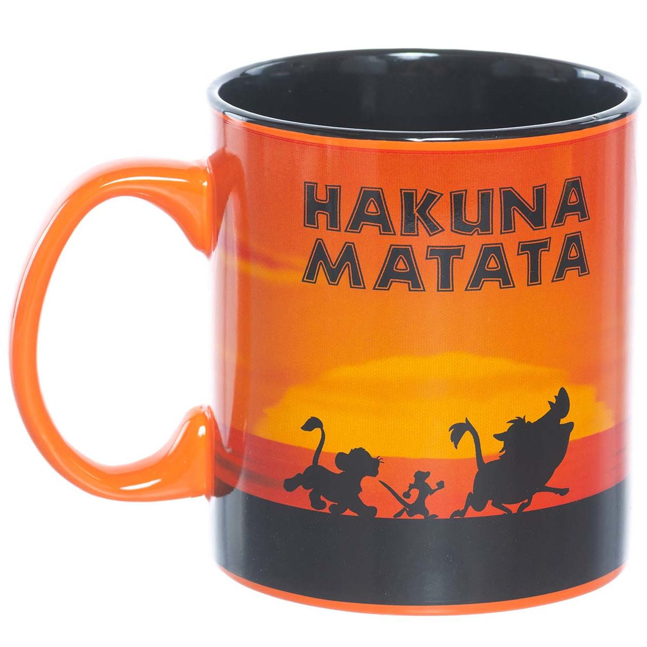 Disneys The Lion King Hakuna Matata Sunset 20 Oz Ceramic Mug By Silver Buffalo
