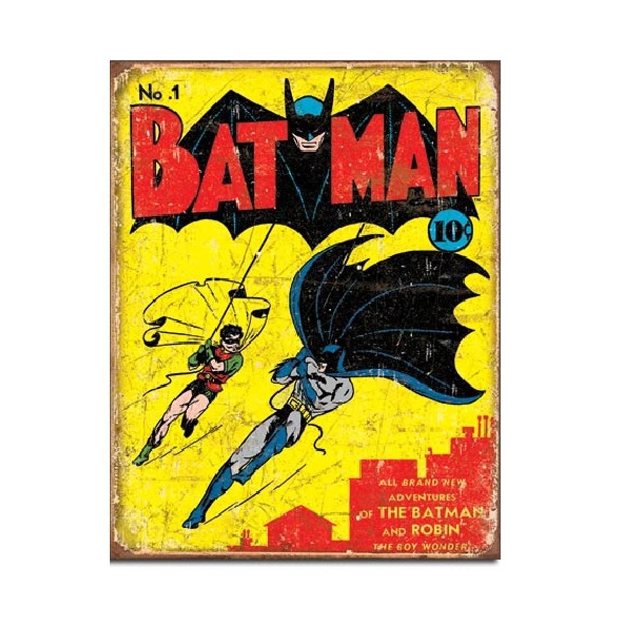 Batman No 1 Comic Book Cover Tin Sign