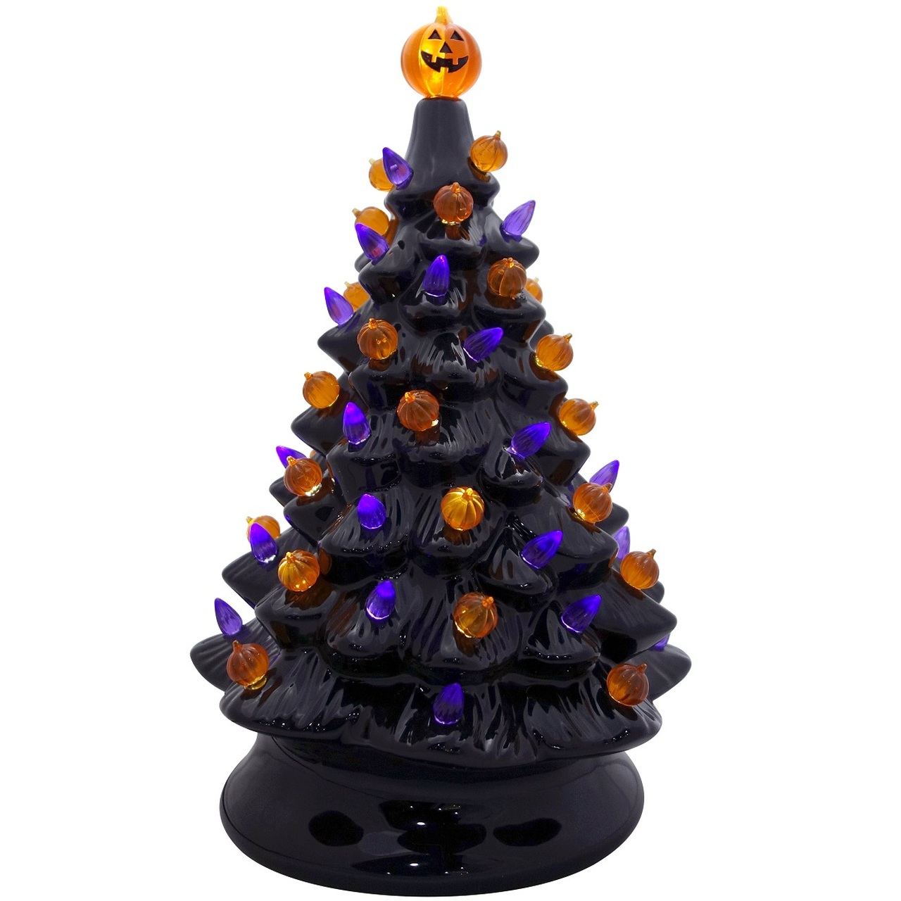 Ceramic Black Retro Halloween Tree Retrofestive Ca