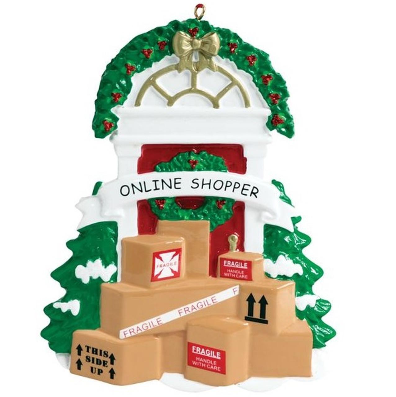 Online Shopper Personalized Ornament